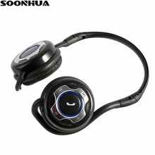 цена на SOONHUA Wireless Bluetooth Headset Stereo Sports Headphone Foldable Gaming Headset With Handsfree Mic For Tablet PC Mobile Phone