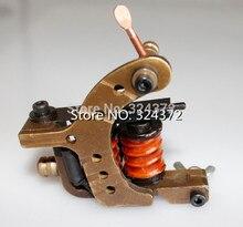 handmade Cast brass frame 8wraps coils Professional liner Tattoo Machine Gun