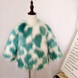 Image 2 - LILIGIRL Mädchen Winter Faux Pelz Jacke kinder Warme Mantel für Baby Bunte Outwear Jungen Hohe Qualität Pelz Jacken Tops kleidung
