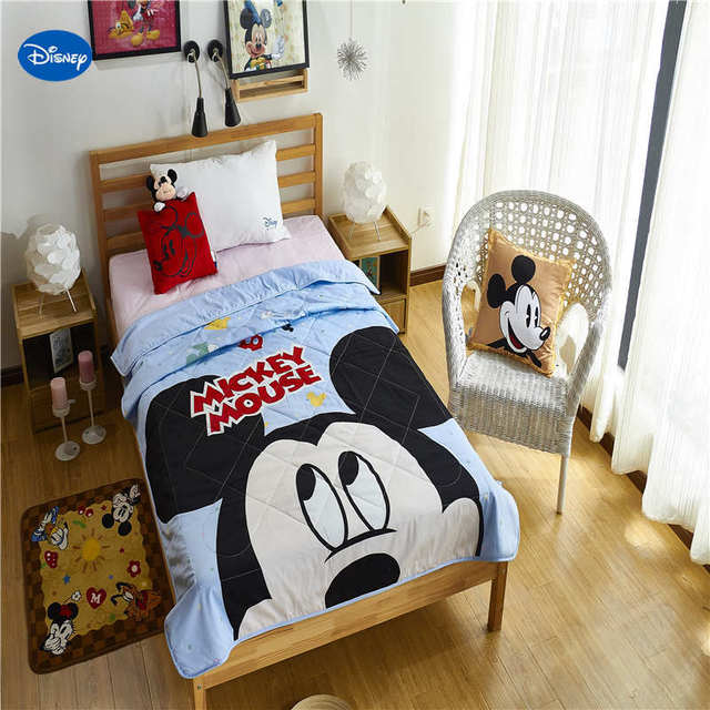 Disney Cartoon Mickey Mouse Print Quilts Comforter Bedding Cotton Cover  Summer Child Boys Baby Bedroom Decor