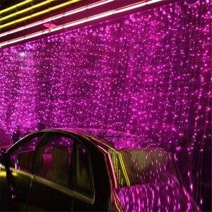 Image 1 - NEW 10 x 1M 448 LED Outdoor Curtain String Light Christmas Xmas Party Fairy Wedding LED Curtain Light 220v 110v US AU EU Plug