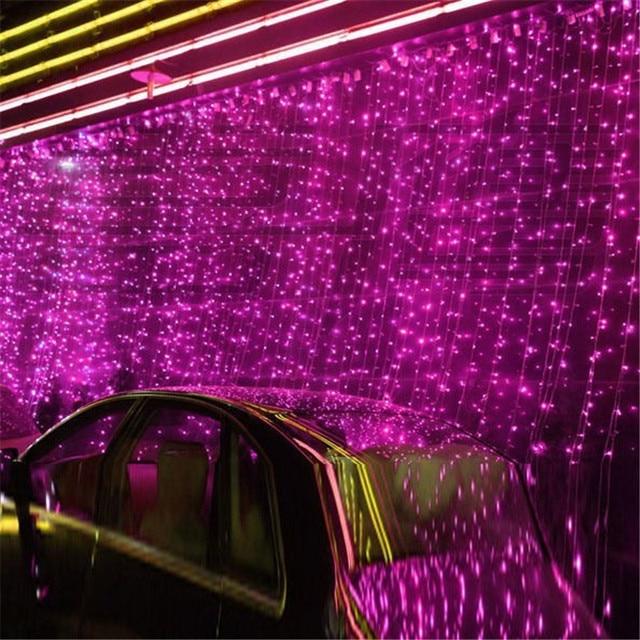 NEW 10 x 1M 448 LED Outdoor Curtain String Light Christmas Xmas Party Fairy Wedding LED Curtain Light 220v 110v US AU EU Plug