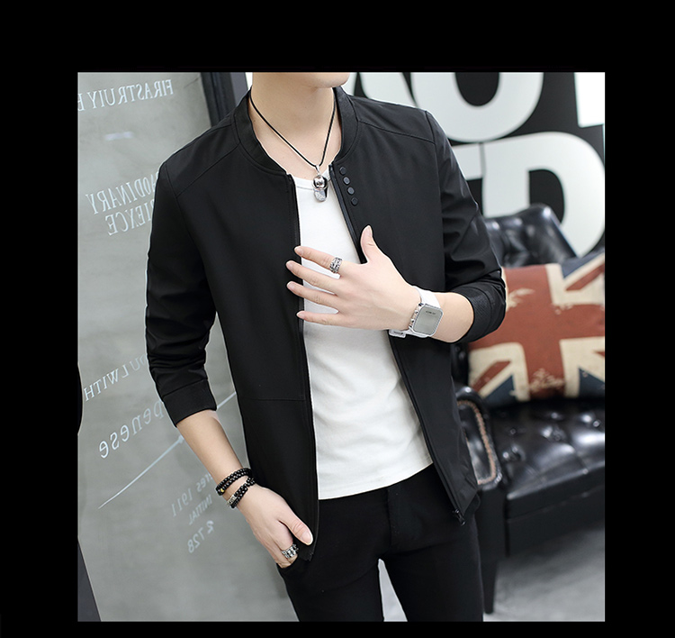 Fall 2019 pure color collar jacket type teenagers cultivate one's morality Casual jacket
