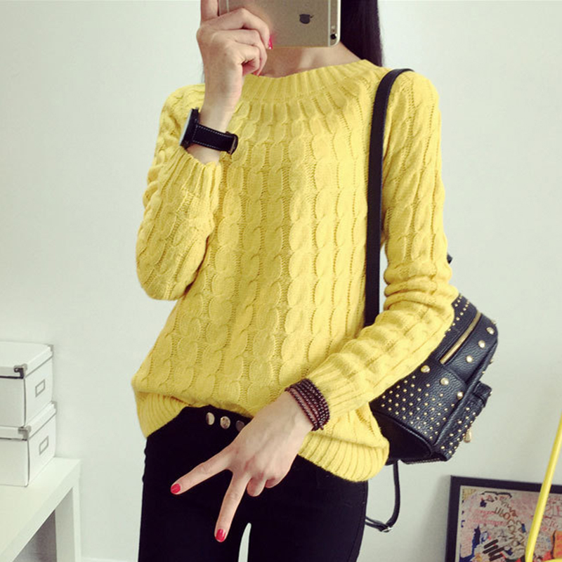 2018 new arrival women sweaters Spring fall winter Korean version hot sale O-neck long sleeve loose twist casual pullovers 4152