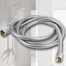 1 Uds 1,5 M/2 M/3 M accesorio de ducha de manguera de baño cabeza de ducha tubo de acero inoxidable de mano tubo Flexible de baño conjunto de baño