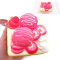 New hot sell 10CM kawaii jumbo Ice cream cake bread toast normal  rising Squishy charm squeeze toy