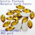 O Envio gratuito de Muitas Cores 3x6mm 10000 pcs Marquise Terra Facetas Flatback Acrílico Contas de Acrílico Cola Em Acrílico Beads Decore