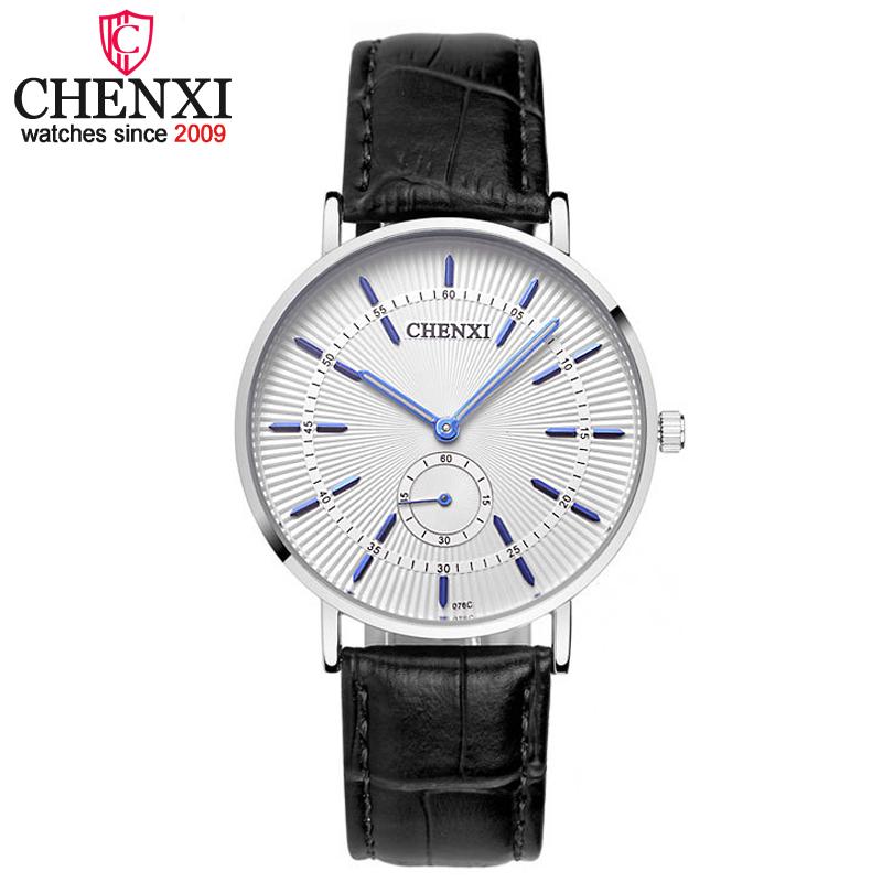 Prix pour CHENXI Hommes Montres de Marque De Luxe Célèbre Hommes Nouvelle Montre-Bracelet Promotionnel Homme Horloge bracelet En Cuir Quartz Montre relogio masculino