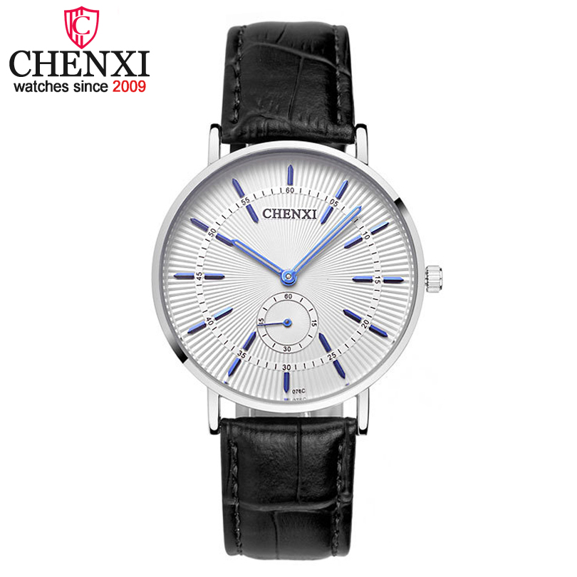 CHENXI Men Watches Brand Luxury Famous Men's Wristwatch New Promotional Male Clock Leather strap Quartz Watch relogio masculino kingsky new fashion small women watches famous design quartz watch black pu leather strap wristwatch