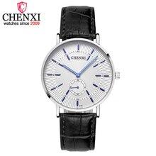 CHENXI Hombres Relojes de Marca de Lujo Famoso Reloj de Los Hombres de Nueva Promocional Masculino Reloj correa de Cuero Reloj de Cuarzo relogio masculino