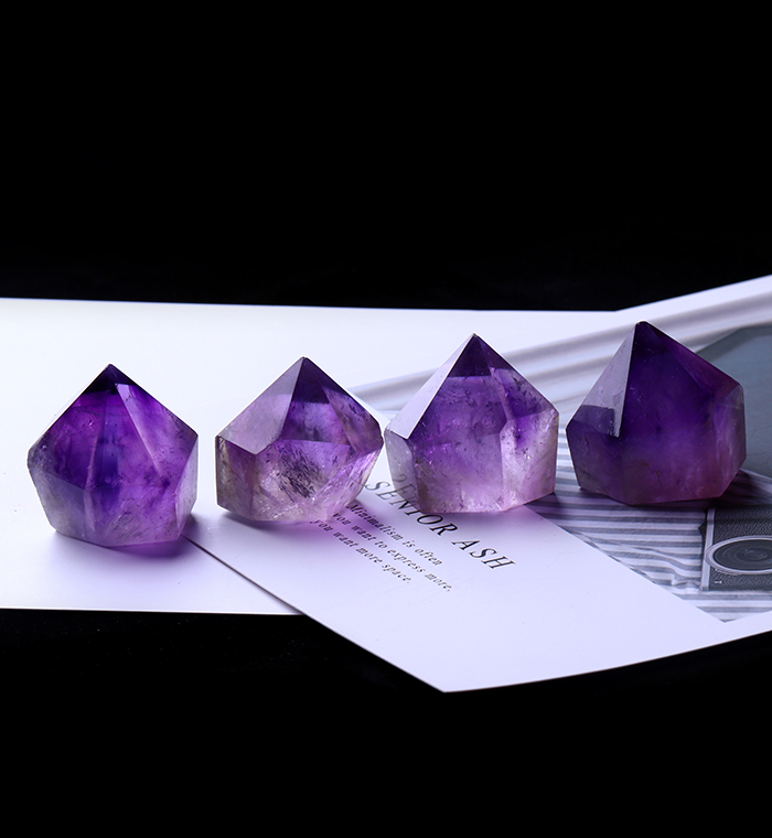 1PC Natural Amethyst Wand Quartz Crystal Repair Crystal Stone accessories Home Decor 14