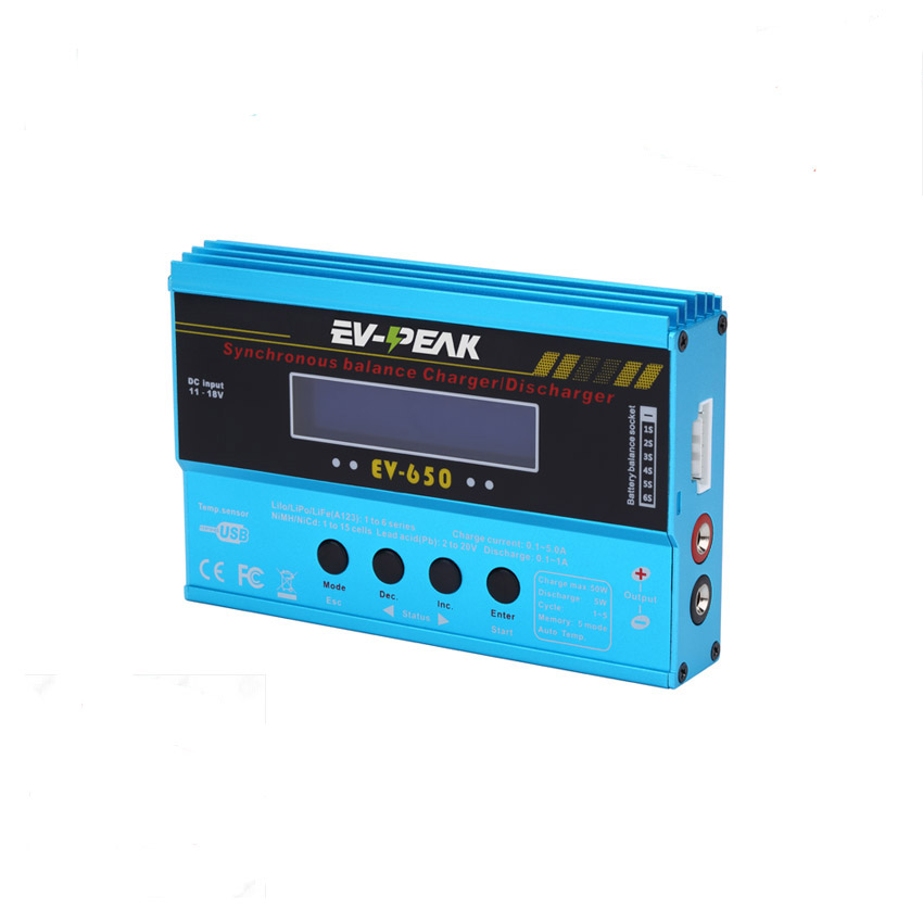 ФОТО Original EV-PEAK EV-650 50w 5a digital rc lipo NiMh battery charger  balance charger