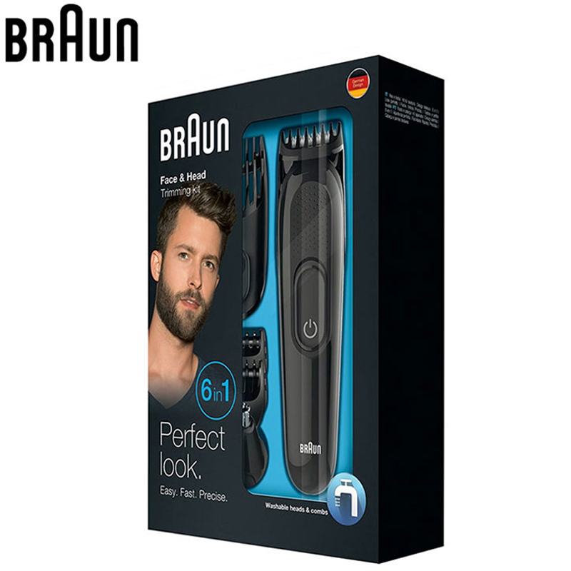 Image 5 - Braun Mens Beard Hair Trimmer MGK3020 6 in 1 Multi Grooming Kit Electric Shaver Hair Ear Nose Head Trimming 4 Combs 13 Length-in Hair Trimmers from Home Appliances