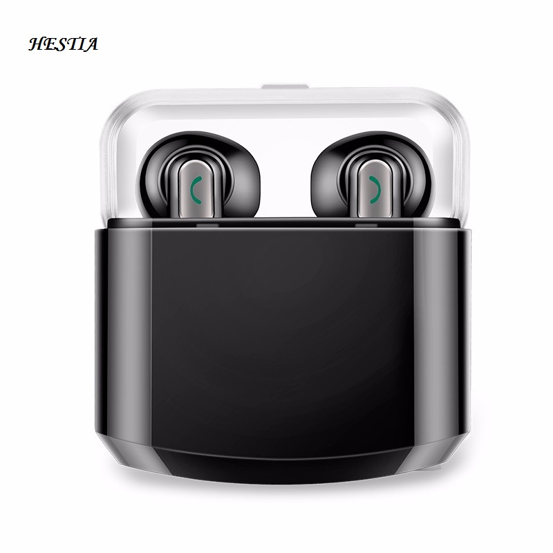 Mini Wireless Bluetooth Headset IPX Fans TWS Bluetooth Earbuds NFC Stereo Hifi earphones with Microphone Separate Charging Box hestia wireless bluetooth headset ipx fans tws bluetooth earbuds stereo hifi earphones with mic charging box for iphone xiaomi