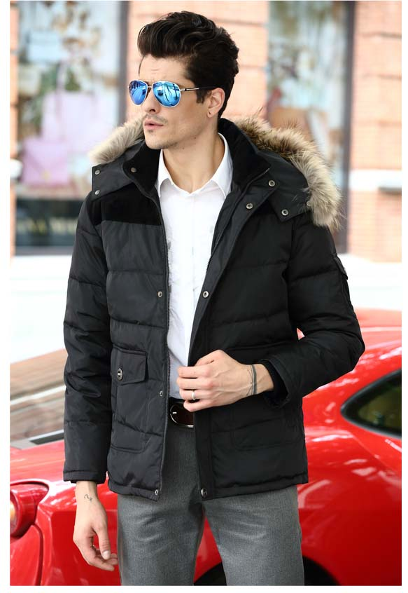 2019 men's duck   down     coat   with real fur hood warm thick parkas patchwork short jacket for male plus oversize xxxxxxxxl 7xl 8xl
