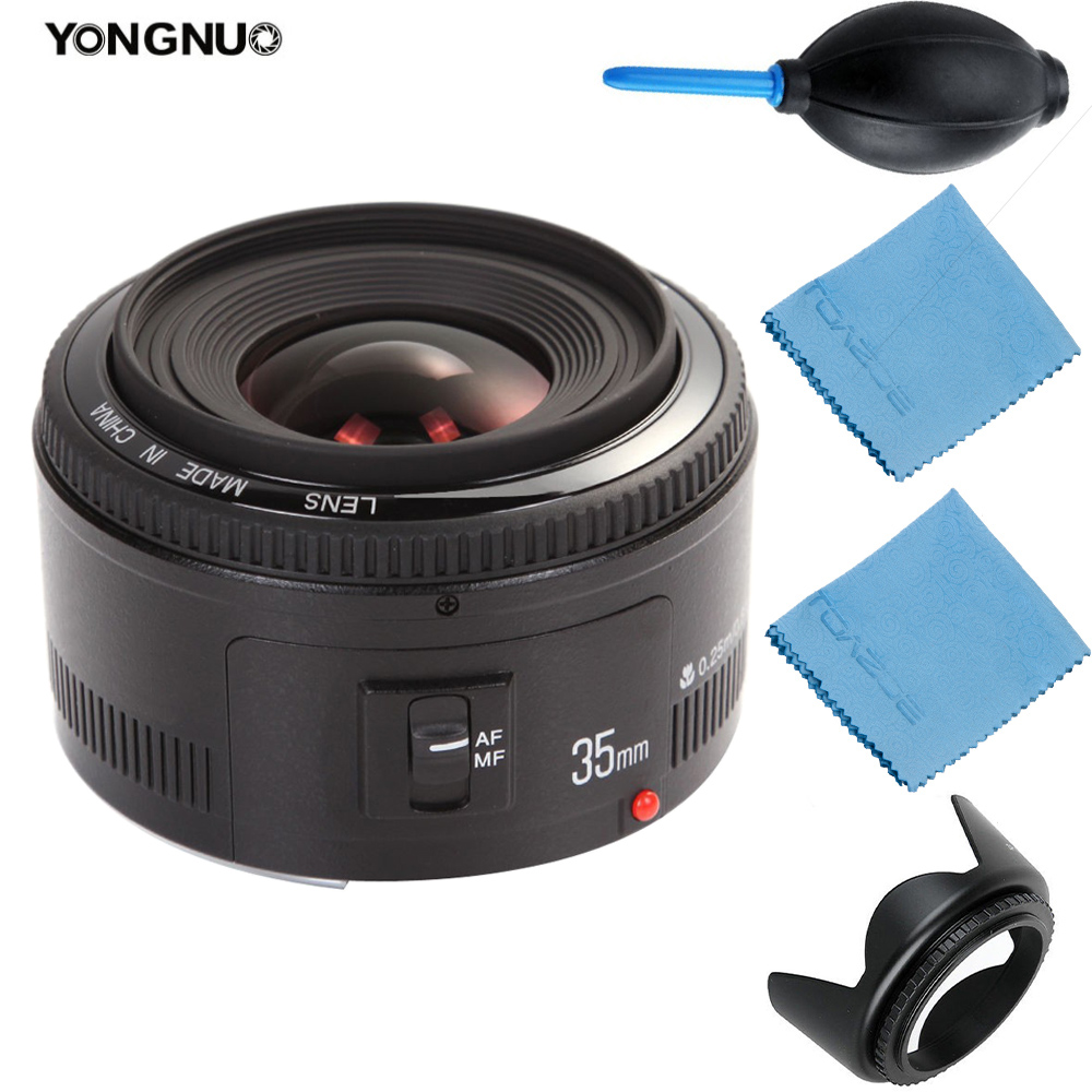 YongNuo EF 35mm objectif YN-35mm YN35mm F2 objectif grand angle grande ouverture fixe objectif de mise au point automatique pour les appareils photo reflex numériques Canon EOS
