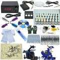 Professional Tattoo Kit Body Tattoo Art 2 Tatto Gun Machine with Grips Needles 40 color ink LCD black power units body art