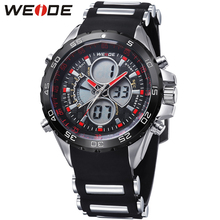 купить 2018 Fashion Brand WEIDE Running Sport Watch Men Digital Quartz LED Alarm Silicone Strap 30m Waterproof Man Wristwatch Relogios онлайн