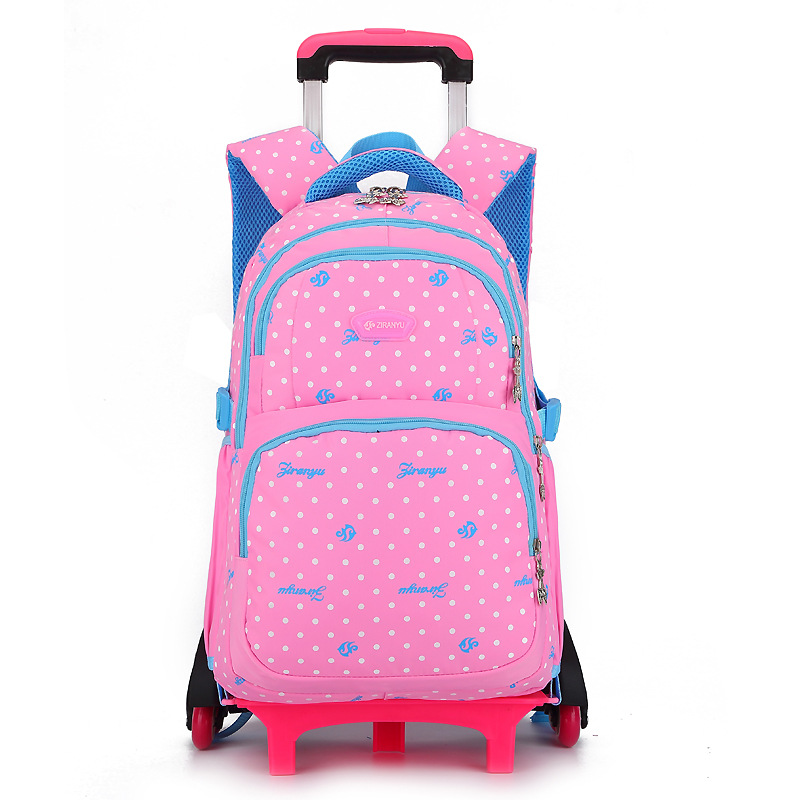 Children Trolley Backpack School Bags Grils Wheeled Bag Student Detachable Rolling Backpacks Trolley schoolbags travel Mochila children trolley backpack school bags boys grils wheeled bag student detachable kids school rolling backpacks travel bag mochila