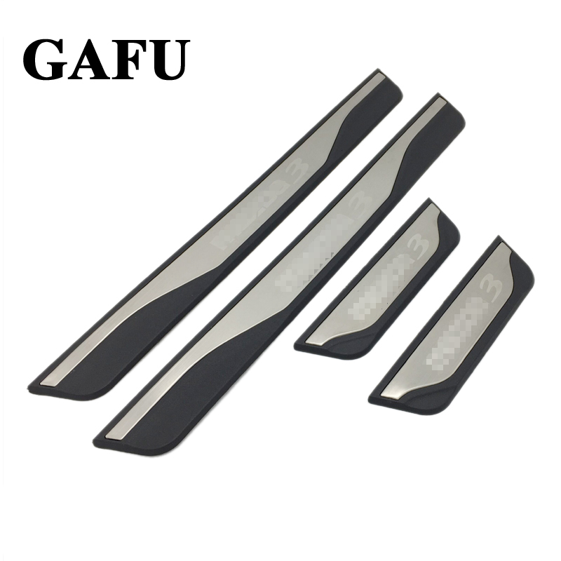 For Mazda 3 Axela 2014 2015 2016 2017 2018 Accessories Door Sill Scuff Plate Guards Door Sills Protector car-styling 4pcs