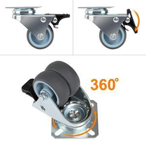 Image 3 - BIFI 4 x Heavy Duty Swivel Castor Wheels 50mm with Brake for Trolley Furniture