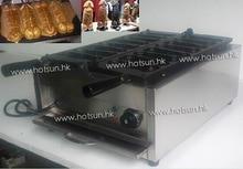 8pcs Commercial Use 110v 220v Electric Hotdog Sausage Penis Waffle Maker Iron Machine Baker