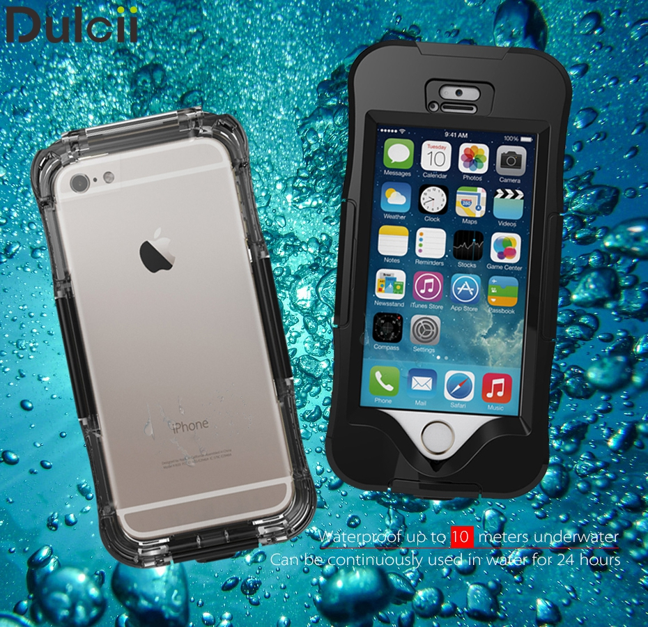 For Apple iPhone 6s Phone Case Waterproof Cases IP68 Dirt/Dust/Snow Proof for iphone SE 5s 6 6p for Samsung Galaxy S7 edge Cover