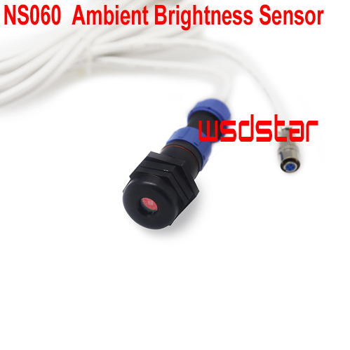 NS060 Ambient Brightness Sensor Connected to sending card Work with MFN300 MSD300 MSD600 MCTRL300 MCTRL600 Hot Sales-in LED Displays from Electronic Components & Supplies    1