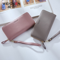 2018 NEW OL Style Handbag Designer Wristband Clutch Wallets for Women Long PU Leather Female Forever Young Wallet Purses Ladies
