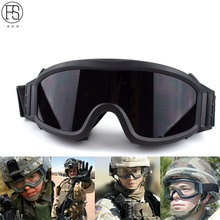 Tactical Goggles Military Airsoft  Shooting Glasses GX1000 Black 3 Lens Motorcycle Windproof Wargame Sunglasses