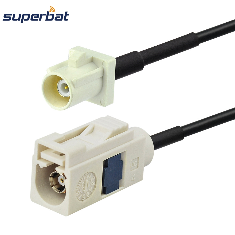 Superbat Radio antenna Extension cable Fakra female jack B pigtail for Radio with phantom with RG174 15cm