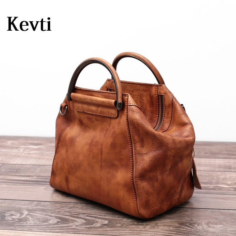 New Arrival Vintage Genuine Leather Handbag Women Cowhide Vintage Shoulder bag Ladies Casual Cool Rough bags for Female tote luxy moon women bag genuine leather composite bag women s handbag fashion casual cowhide larger tote female shoulder bag zd705