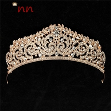 CANNER Luxury Tiaras And Crowns Gold/Silver Crown Princess/Bride Baroque Headband Crystal Wedding Hair Accessories FI