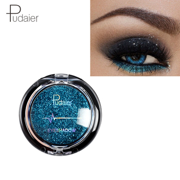 Pudaier Glitter Eyeshadow Smokey Eye Shadow 20 Colors Shimmer Sparkle Eyeshadow Palette of Shadows Makeup Palettes Cosmetics