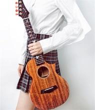 Enya M6 Cutaway Ukulele Tenor 3A Szilárd Mahagóni Test Enya pamut táska Négysávos gitár Zenei hangszerek