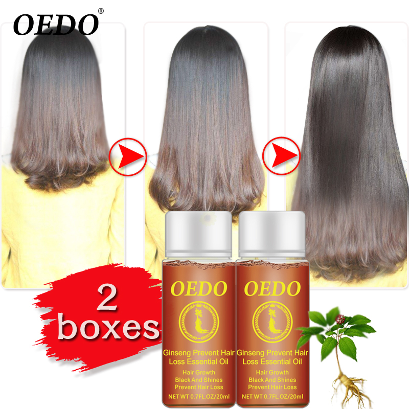 Ginseng Hair Growth Essence Anti Hair Loss Liquid 20ML Fast Restoration Dense Hair Growth Serum Powerful Repair Hair Root