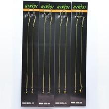 8pcs Hirisi Carp Fishing Hook Link Ready Made Hair Combi Rig Teflon Hook Ready Tied