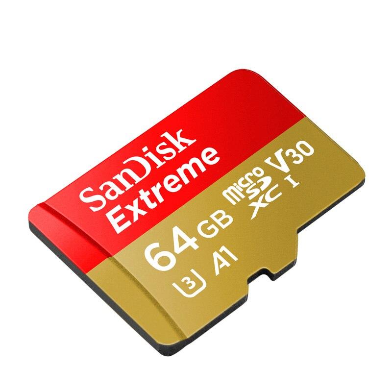SanDisk Extreme Micro SD карта 32 ГБ Class 10 U3 MAX 100 МБ/с. 16 ГБ 64 ГБ microSD карты памяти 128 ГБ microSDXC Поддержка 4 К ...
