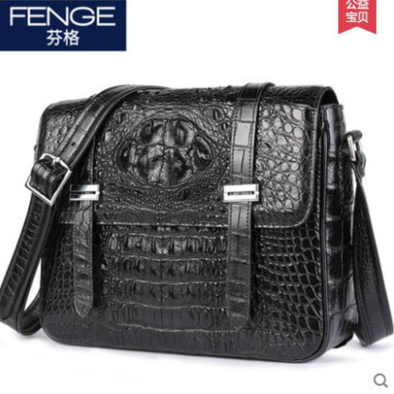 fengge crocodile leather single shoulder bag man cross section diagonal cross men bag crocodile leather casual crocodile bag new 2016 men s shoulder bag man bag portable diagonal cross section korean version of casual travel bag crazy horse
