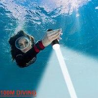 La linterna Led de buceo profesional más potente 100m luz subacuática linterna de Buceo recargable Xm L2 lámpara de mano 26650 18650