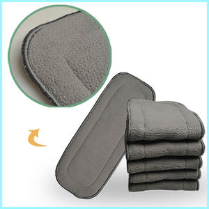 Bamboo-Charcoal Diapers Reusable-Liners Store New for Pocket-Cloth Absrobent-pads/5-layers/Onsale