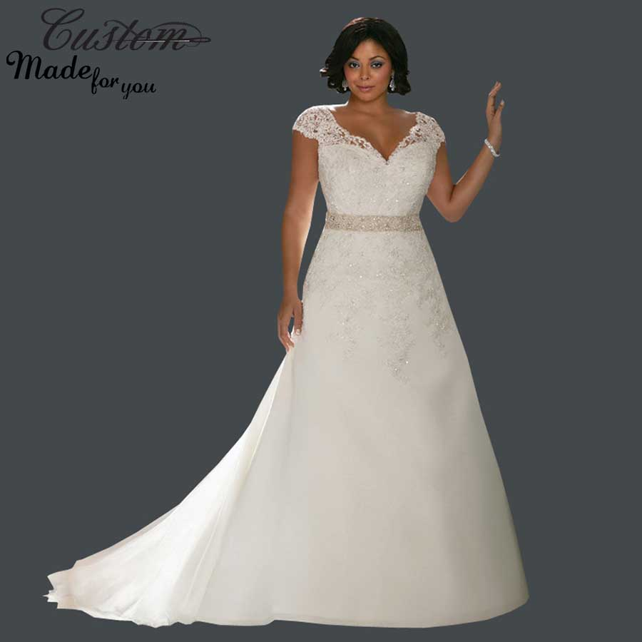 Modest plus size wedding dresses ejn dress for Modest a line wedding dresses