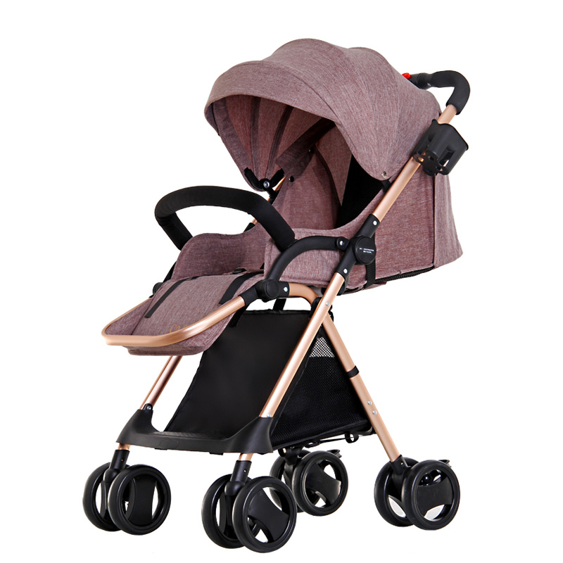 NEW 2 Colors Portable Foldable Baby Lightweight Strollers With Linen Cover,Baby yoya Stroller,poussette pliante portable,5.6Kg