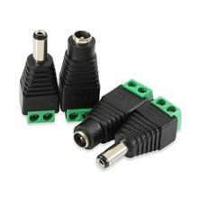 цена на 10Pair (10pcs female+10pcs male) Male Female 5.5 x 2.1mm DC Power 12V 24V Jack Adapter Connector Plug CCTV