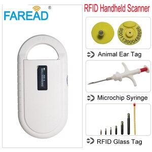 Image 5 - YENI Ücretsiz kargo Pet Mikroçip ISO11784/85 134.2KHz FDX B küçük Taşınabilir Tarayıcı, Hayvan Etiketi çip Okuyucu, LF RFID El Okuyucu