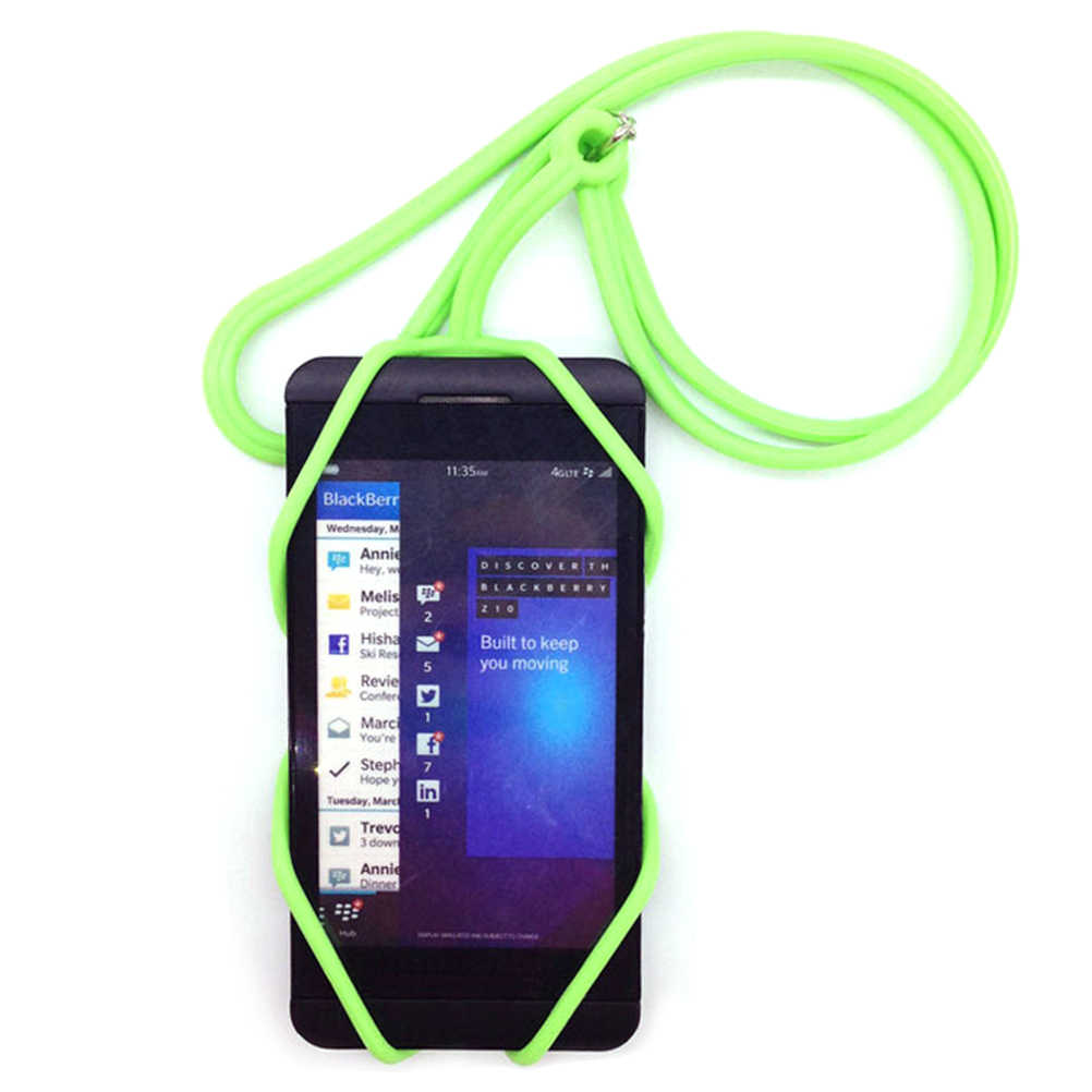 the best attitude e4f52 b5618 JINHF Universal Silicone Cell Phone Lanyard Holder Case Cover Phone Neck  Strap Necklace Sling For Smartphone