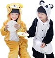 Rilakkuma Onesie Pajamas Kid Sleepsuit Anime Cosplay Costumes panda Jumpsuit Pyjamas Flannel Animal Children Sleepwear Homewear