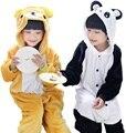 Rilakkuma Onesie Pijama Niños Pijama Anime Cosplay Disfraces panda Mono Pijamas de Franela Animales Niños Homewear Ropa de Dormir