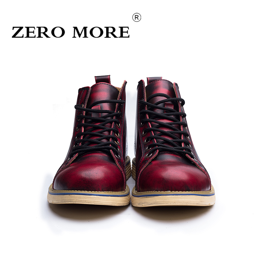 Zm106 brown Zéro Taille En Hommes Split Haute Bottes black Automne Classique 47 Cuir Qualité Plus Red Nouveautés Chaussures Cheville 38 SqOnSWAf