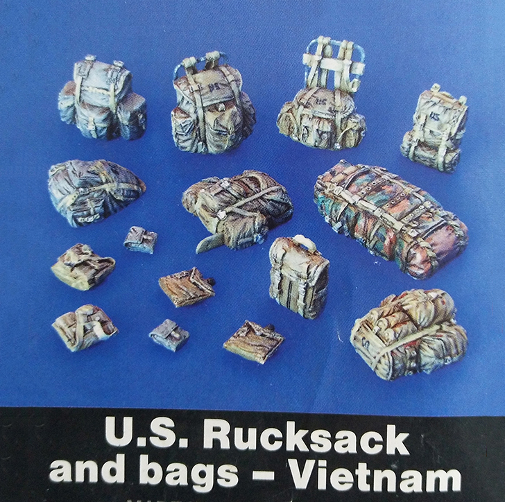 Assembly Unpainted Scale 1/35 US rucksack and bags vietnam Historical Miniature Resin Model Garage Kit image